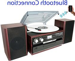 8-in-1 Boytone BT-24DJM Turntable with Bluetooth Connection,