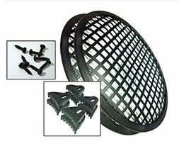 1 Pair 6-inch Waffle Grills for Speakers Subwoofers with Cli