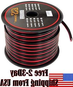 10 Ga Gauge Red Black Speaker Wire 12V Auto Remote Hookup Po