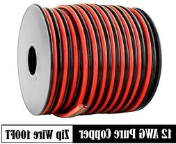 12 AWG Gauge Red Black Speaker Wire 12 Volt Automotive Power