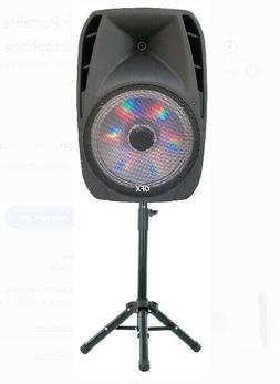 QFX 15 Inch Portable Bluetooth Party Loudspeaker with Wirele