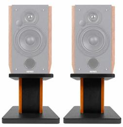 "8"" Wood Bookshelf Speaker Stands For Edifier R1700BT Book"