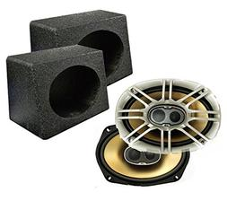 "2) Polk Audio DB691 6x9"" 300 Watt Coaxial Car Marine Speaker"