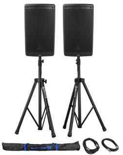 "2) JBL EON610 10"" 2000 Watt Powered DJ PA Speakers w/Bluetoo"