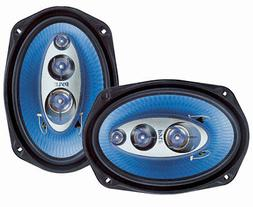 "2) New Pyle PL6984BL 6x9"" 400 Watts 4-Way Car Coaxial Speake"