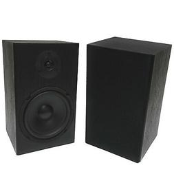 "2 Pack TDX 6.5"" 2-Way Bookshelf Home Theater Audio Speaker P"