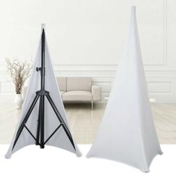 New 2X White Double Sided Stretch DJ Tripod PA Speaker Stand