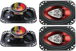 "4) New BOSS CH4630 4""x 6"" 3-Way 500W Car Audio Coaxial Speak"