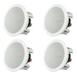 """4 Pack 5.25"""" In Ceiling Speakers Home Theater 60W 8 Ohm 2 Wa"""