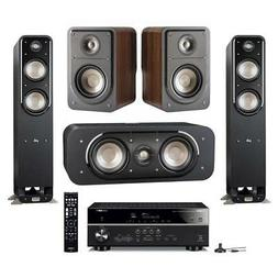 Polk Audio 4 Speaker Home Theater System with Yamaha RX-V485