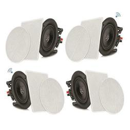 "4 Speakers 6.5"" Bluetooth Ceiling / Wall Speaker Kit, Flush"