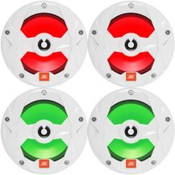 "4 x JBL OEM Replacement 6.5"" 2-Way Marine RGB LED Multi-Elem"