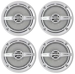 "Sony 4 XS-MP1611 6.5"" 280 Watt Dual Cone Marine Speakers Ste"