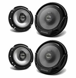 "4x) Kenwood KFC-1666 6.5"" 300W 2-Way Car Audio Coaxial Speak"