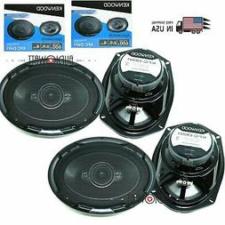 "4X Kenwood  6X9"" 4 Way coaxial Car Speakers 1200W replacemen"