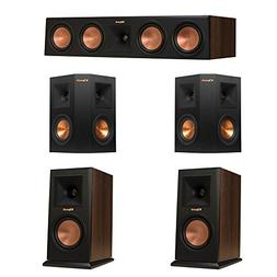 Klipsch 5.0 Walnut System with 2 RP-150M Monitor Speakers, 1