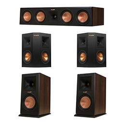 Klipsch 5.0 Walnut System with 2 RP-160M Monitor Speakers, 1