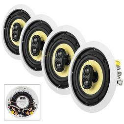 """6.5"""" In-Ceiling Home Theater Speakers 60W RMS DVC Stereo 8 O"""