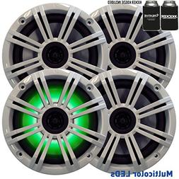 Kicker 6.5 White LED Marine Speakers  2 pairs of OEM replace