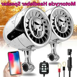 600W Waterproof  Bluetooth Motorcycle Stereo Speakers Handle