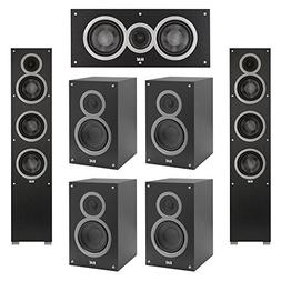 Elac 7.0 System with 2 Debut F5 Floorstanding Speakers, 1 De
