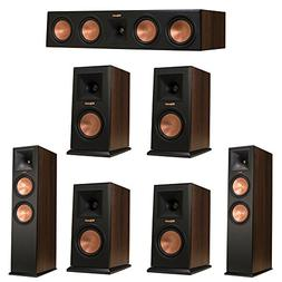 Klipsch 7.0 Walnut System with 2 RP-280F Tower Speakers, 1 R