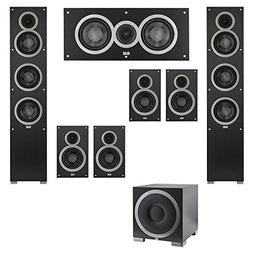 Elac 7.1 System with 2 Debut F5 Floorstanding Speakers, 1 De