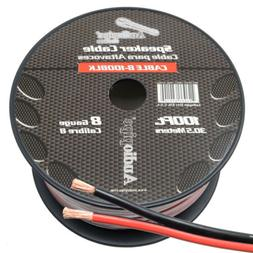 8 GAUGE PER 25 FT RED BLACK ZIP WIRE AWG CABLE POWER GROUND