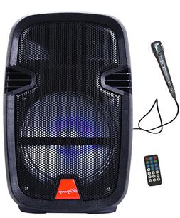"""8"""" Portable Active DJ PA Rechargeable Speaker Bluetooth USB"""
