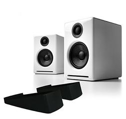 Audioengine A2+ Powered Desktop Speaker  - White w/DS1 Deskt