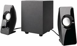 AmazonBasics AC-2.1A 2.1 8W Speakers with Subwoofer