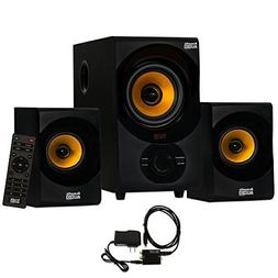 Acoustic Audio AA2170 Home 2.1 Speaker System FM Tuner USB C