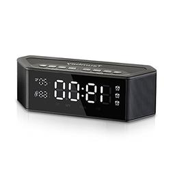 Tsumbay Alarm Clock Radio with Bluetooth Speakers and Digita