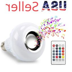 BFF Products Bluetooth Speaker Light Bulb Smart LED RGB Colo