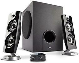 Cyber Acoustics CA 3602FFP 2 1 Speaker Sound System with Sub