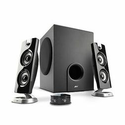 Cyber Acoustics CA-3602FFP 2.1 Speaker Sound System with Subwoofer and Control P