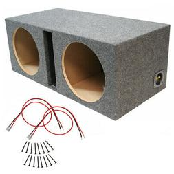 Car Audio Dual 12 Inch Vented Subwoofer Enclosure Stereo Spe