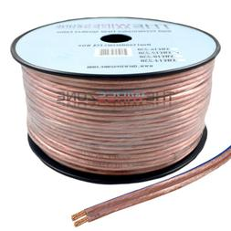 Clear Transparent 250' ft 12 Gauge 12AWG Speaker Wire Cable