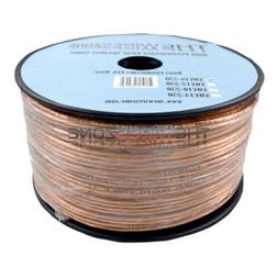 Clear Transparent 250' ft 16 Gauge 16AWG Speaker Wire Cable