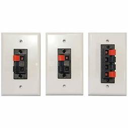 Combo Pack Speaker Terminal Wall Plates Spring Clip for Ster