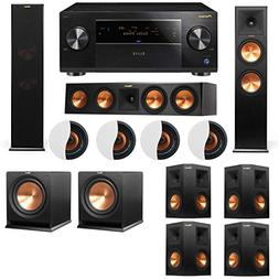 Dolby Atmos 7.2.4 Klipsch RP-280F Tower Speakers R112SW with