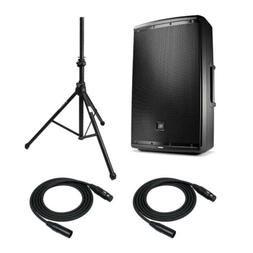 JBL EON615 15-inch Two-way PA System with Speaker Stands and