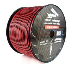 Audiopipe 1000' Feet 16 GA Gauge Red Black 2 Conductor Speak