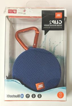 Genuine JBL Clip 2 Portable Bluetooth Speaker - Blue Brand N