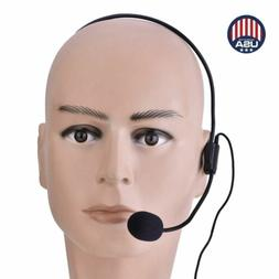Head Mounted Microphone Teacher Guide Lecture 3.5mm Wired Co