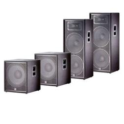 JBL JRX225 15' Passive Two-Way Speakers  with JBL JRX218S Su