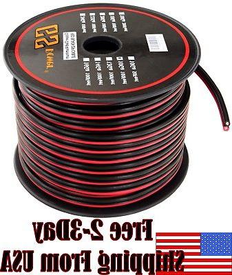 10 ga gauge red black speaker wire