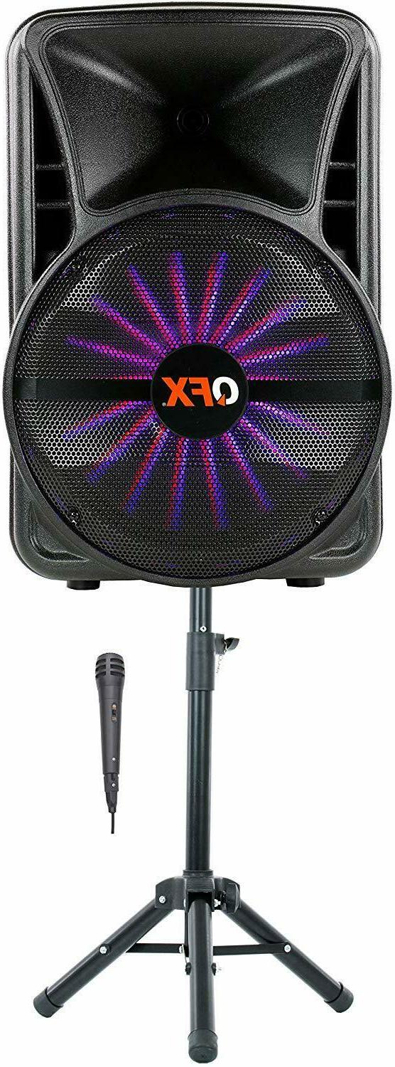 "QFX 12"" Bluetooth Smart App Party Speaker PBX-12SM Mic Stand"