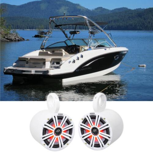"KICKER 45KM84L 8"" 600 Watt Marine Boat Wakeboard Tower Spea"