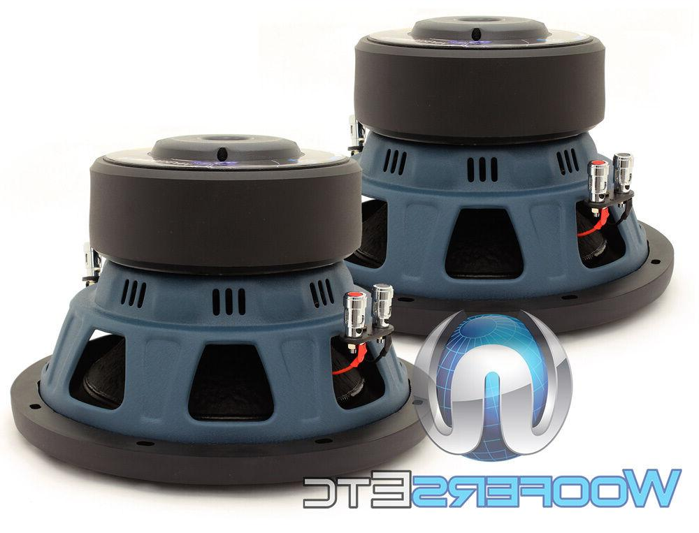 """10"""" 1400W 2-OHM SUBWOOFERS BASS SPEAKERS NEW"""
